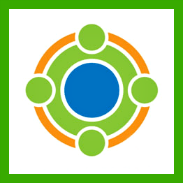 CFI logo- Green, White and blue, square shaped